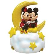 Disney Mickey and Minnie Mouse Over the Moon Mini Statue