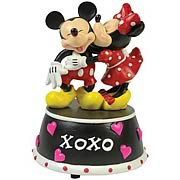 Disney Mickey and Minnie Mouse XOXO Mini Statue