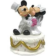 Disney Mickey and Minnie Mouse Wedding Mini Statue