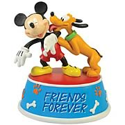 Disney Mickey Mouse and Pluto Friends Forever Mini Statue