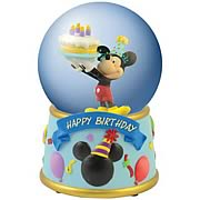 Disney Mickey Mouse Happy Birthday Water Globe