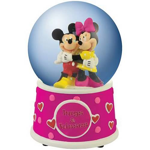 Disney Mickey and Minnie Mouse Hugs & Kisses Water Globe