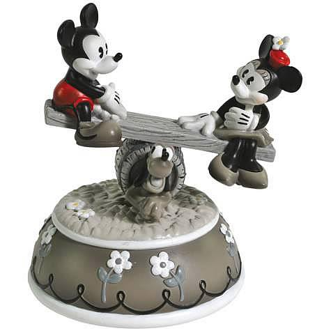 Disney Retro Mickey and Minnie Mouse See-Saw Musical Statue
