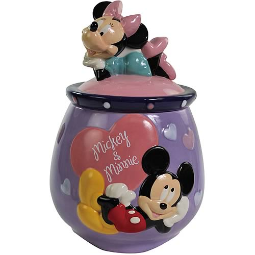 Disney Mickey and Minnie Mouse in Love Cookie Jar