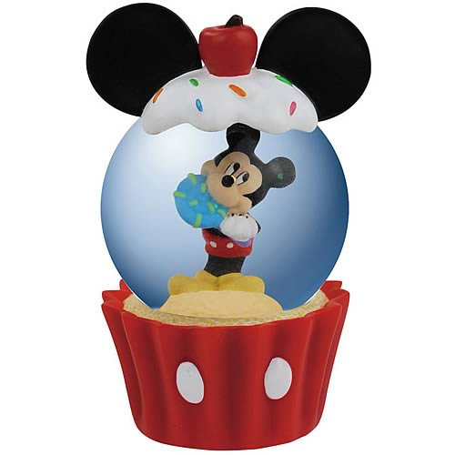 Disney Mickey Mouse Cupcake Water Globe