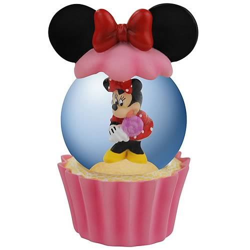 Disney Minnie Mouse Cupcake Water Globe