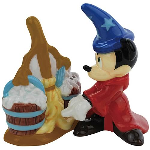 Fantasia Mickey with Broom Salt and Pepper Shakers
