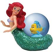 Little Mermaid and Flounder Water Globe