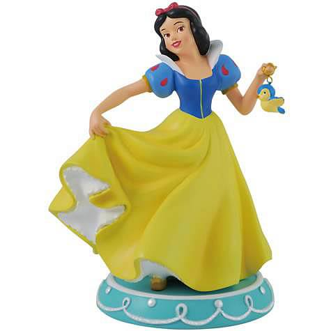 Snow White with Bird Statue