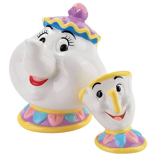 Beauty and the Beast Mrs. Potts and Chip Salt and Pepper Set