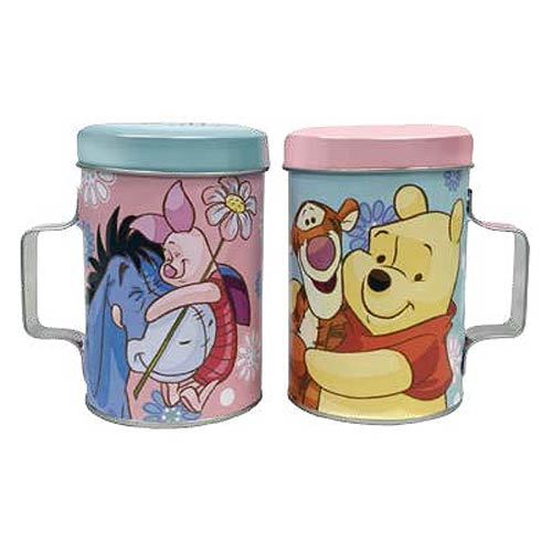 Winnie the Pooh Piglet and Pooh Tin Salt and Pepper Shakers