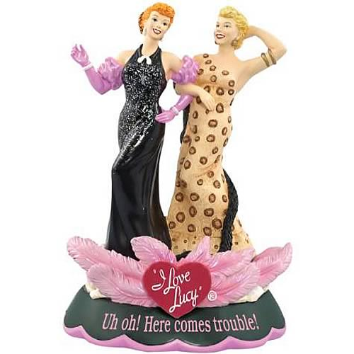 I Love Lucy Here Comes Trouble Mini Statue Sculpture