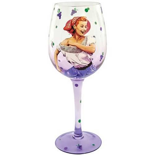 I Love Lucy Grape Stomping Lucy Wine Glass