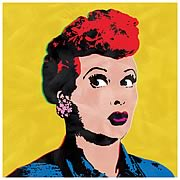 I Love Lucy Pop Art Yellow Canvas Print