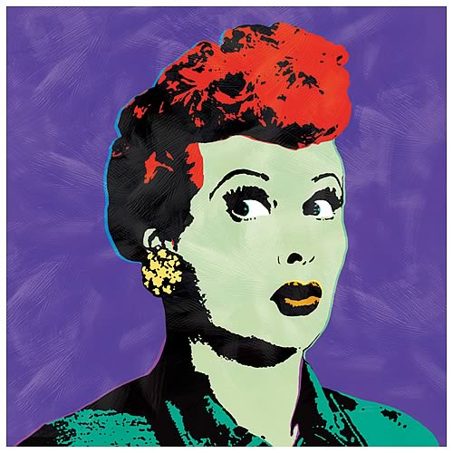 I Love Lucy Pop Art Purple Canvas Print