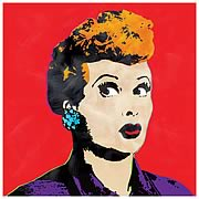 I Love Lucy Pop Art Red Canvas Print