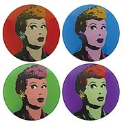I Love Lucy Pop Art Coasters 4-Pack