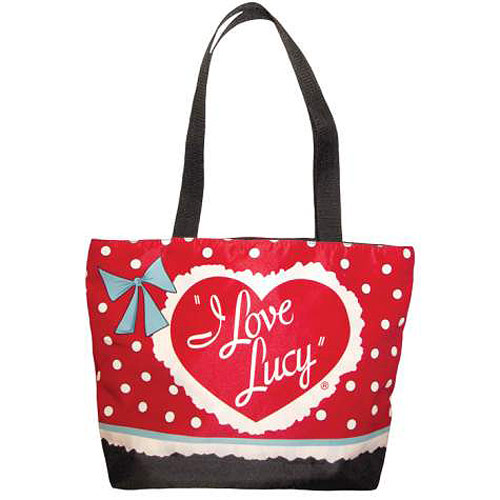 I Love Lucy Classic Logo Reusable Red Tote Bag