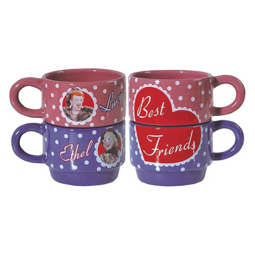 I Love Lucy Best Friends Stackable 6 oz. Mug Set