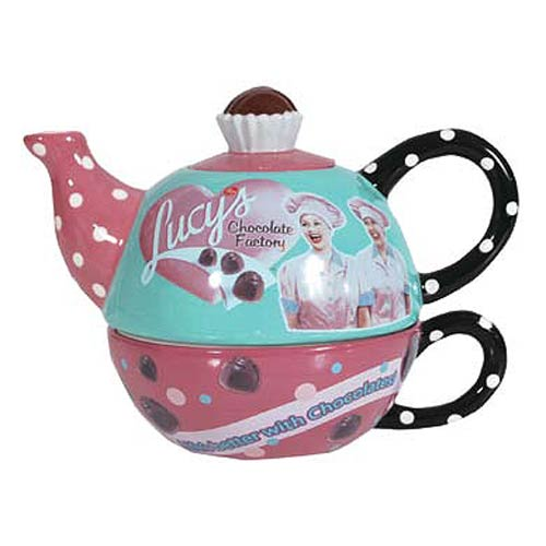 I Love Lucy Chocolates Tea for One Teapot