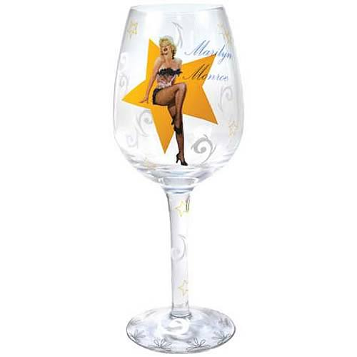 Marilyn Monroe Lingerie Wine Glass