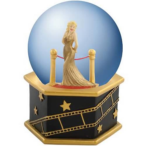 Marilyn Monroe Velvet Rope Musical Water Globe