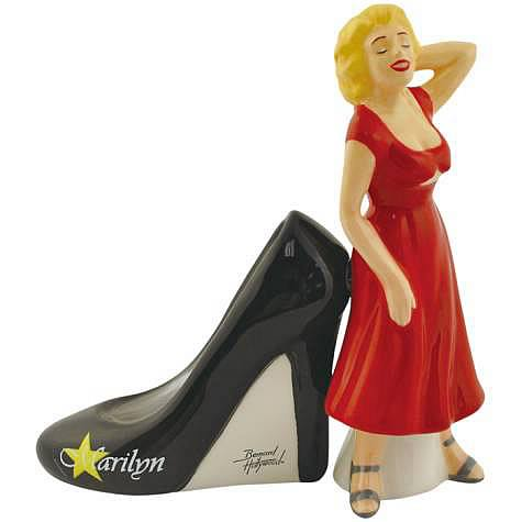 Marilyn Monroe Red Dress and Heel Salt and Pepper Shakers