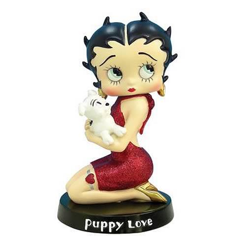 Betty Boop Puppy Love Statue