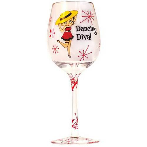 Betty Boop Dancing Diva Wine Glass