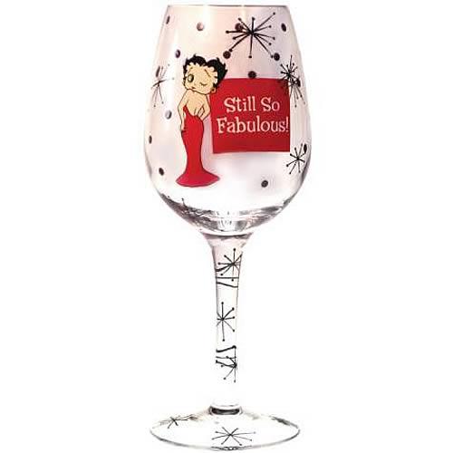 Betty Boop Still So Fabulous Wine Glass