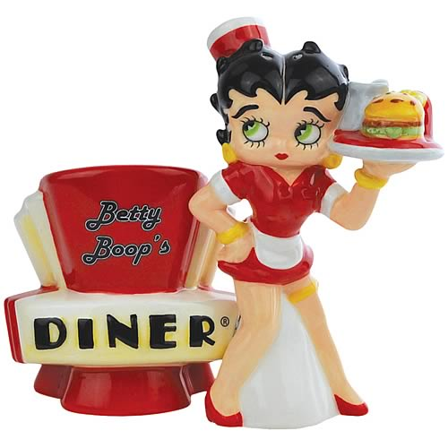Betty Boop Diner Salt and Pepper Shaker Set