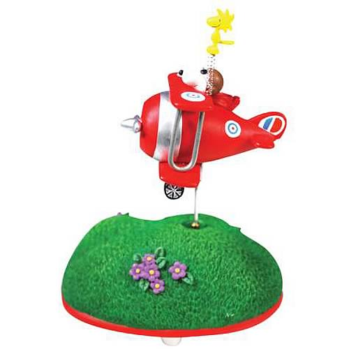 Peanuts Snoopy Over the Hills Animated Statue