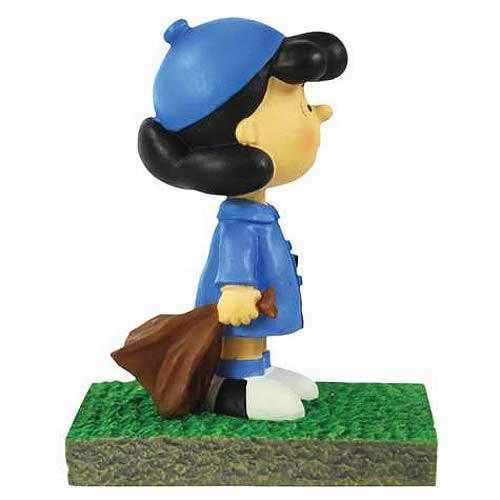Peanuts Lucy Bus Stop Mini Statue