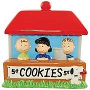 Peanuts Cookie Stand Cookie Jar