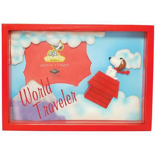 Peanuts Snoopy World Traveler Shadowbox Picture Frame