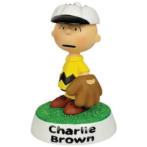 Peanuts Charlie Brown Baseball Mini-Statue