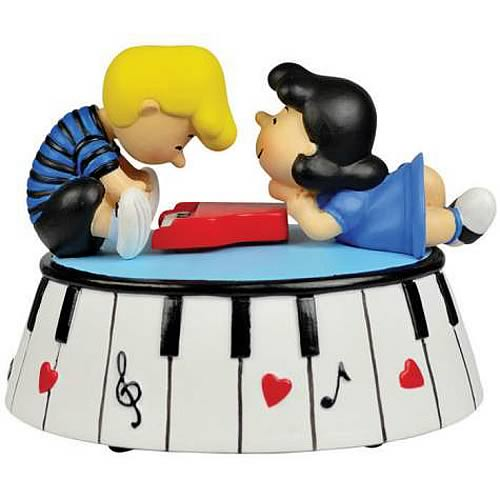 Peanuts Lucy and Schroeder Piano Love Musical Mini-Statue