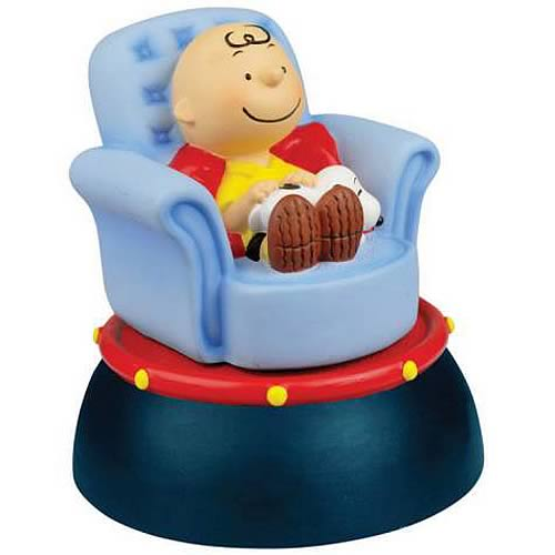 Peanuts Charlie Brown & Snoopy Nap Time Animated Mini Statue