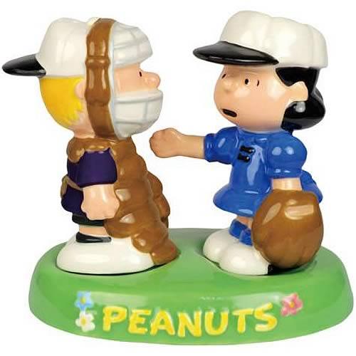 Peanuts Lucy & Schroeder Baseball Salt & Pepper Shaker Set