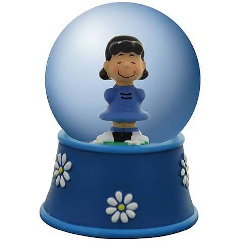 Peanuts Lucy Daisies Water Globe