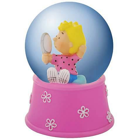 Peanuts Sally with Mirror Water Globe