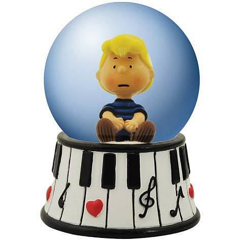 Peanuts Schroeder Piano Water Globe