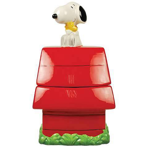 Peanuts Snoopy's Dog House Cookie Jar