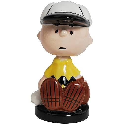 Peanuts Charlie Brown Baseball Mini Bobble Head