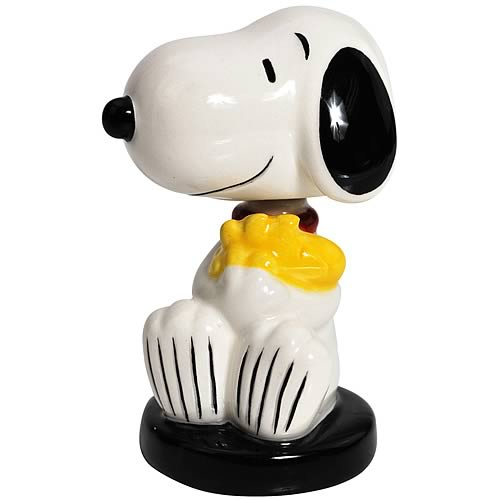Peanuts Snoopy Hugging Woodstock Mini Bobble Head