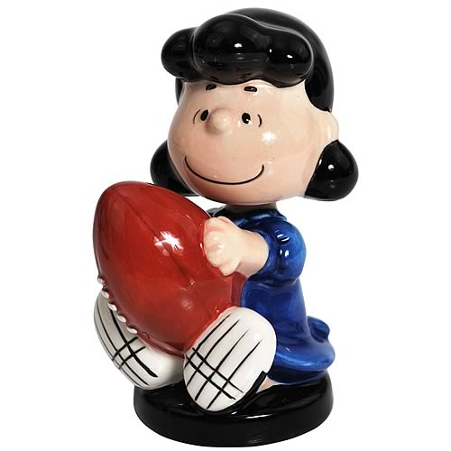 Peanuts Lucy Holding Football Mini Bobble Head
