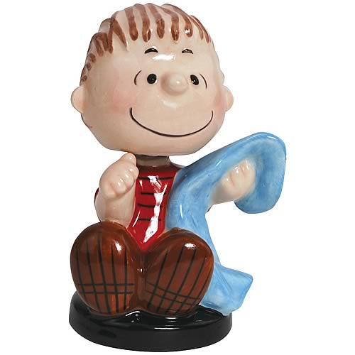 Peanuts Linus Holding Blanket Mini Bobble Head