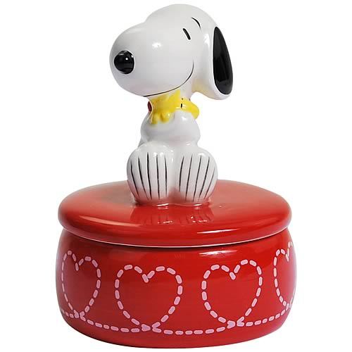 Peanuts Snoopy Hugging Woodstock Trinket Box