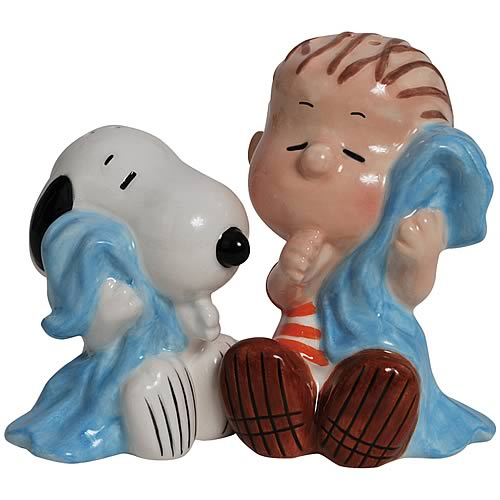 Peanuts Snoopy and Linus Salt and Pepper Shakers
