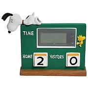 Peanuts Snoopy and Woodstock Scoreboard Desk Clock